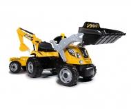 Šlapací traktor Builder Max s bagrem a vozíkem