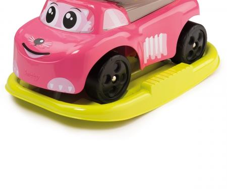 Odrážedlo Auto růžové elektronické