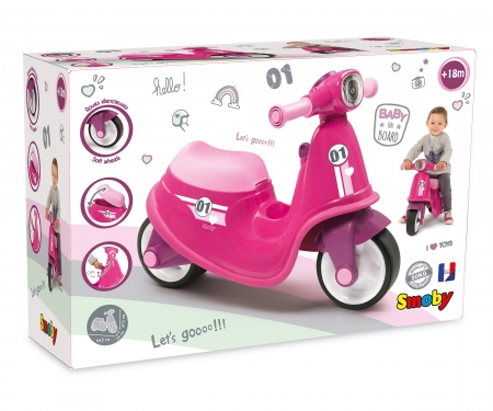 smoby PORTEUR SCOOTER ROSE