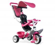 Tříkolka Baby Balade 2 růžová, stříška, taška