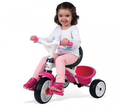 smoby Tříkolka Baby Balade 2 růžová, stříška, taška