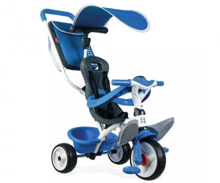 Tříkolka Baby Balade 2 modrá, stříška, taška