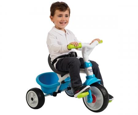 smoby Tříkolka Baby Driver Confort modrozelená, stříška