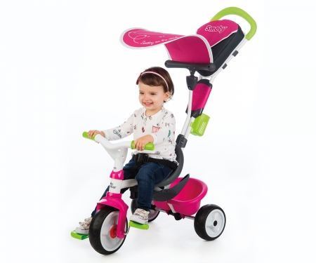 Tříkolka Baby Driver Confort růžovozelená, stříška