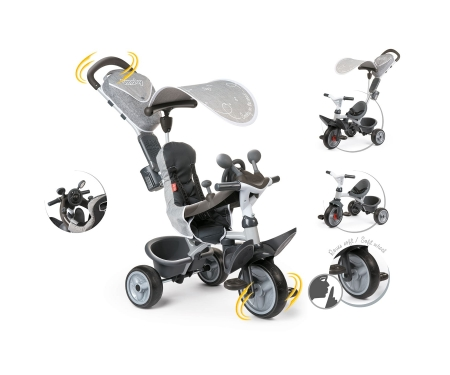 smoby BABY DRIVER COMFORT TRICYCLE GREY