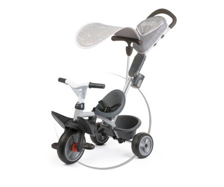 smoby Tříkolka Baby Driver Comfort šedá, stříška