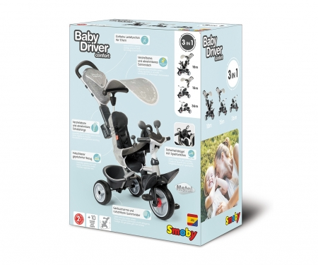 TRICYCLE BABY DRIVER CONFORT GRIS