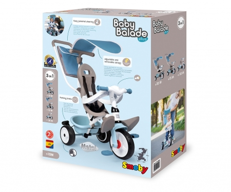 smoby BABY BALADE PLUS TRICYCLE BLUE