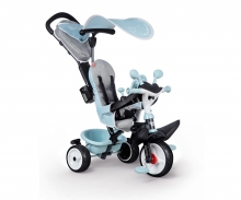 smoby TRICYCLE BABY DRIVER PLUS BLEU