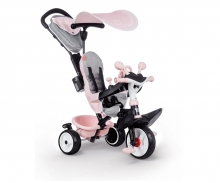 smoby TRICYCLE BABY DRIVER PLUS ROSE