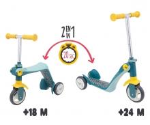 smoby Switch 2in1 Laufrad und Scooter mit 3 Rädern