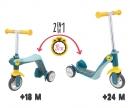 smoby Smoby Switch 2in1 Laufrad und Scooter mit 3 Rädern