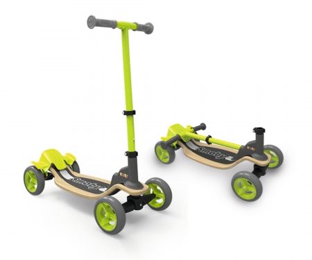 smoby Wooden Fun-Scooter, 4 Räder