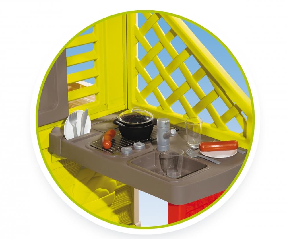 Sommerküche Smoby : Natur haus mit sommerküche spielhäuser outdoor marken