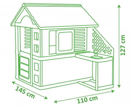 Natur Haus mit Sommerküche