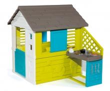 Domeček Pretty modrozelený s kuchyní