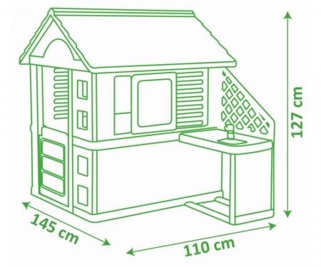 smoby Smoby Spielhaus Pretty Haus mit Sommerküche