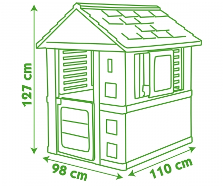 smoby Smoby Spielhaus Natur Haus
