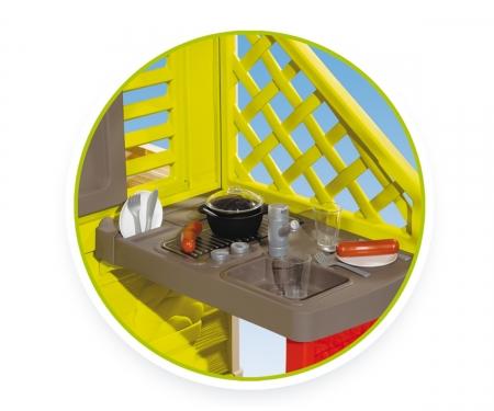 smoby Domeček Nature s kuchyní