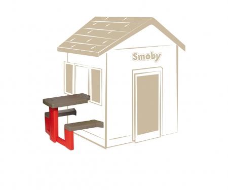 smoby Piknikový stoleček s lavicemi k domečku