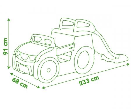 smoby Auto pískoviště se skluzavkou 150 cm