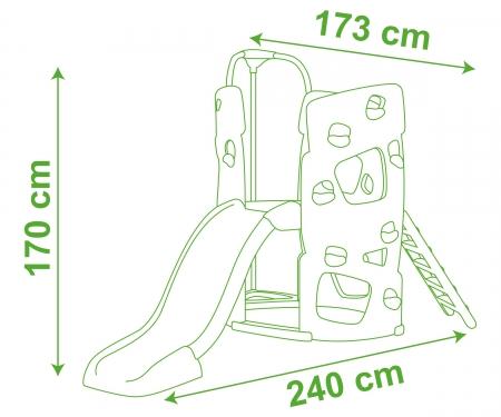 smoby Prolézačka se skluzavkou 150 cm
