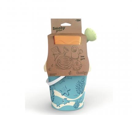 smoby Smoby Green Sandspielzeug Eimergarnitur mit Gießkanne aus Biokunststoff
