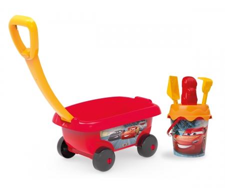 smoby Smoby Cars Handwagen mit Eimergarnitur