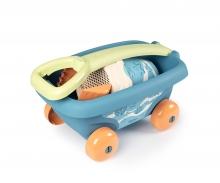 smoby Smoby Green Sandspielzeug Handwagen mit Eimergarnitur aus Biokunststoff