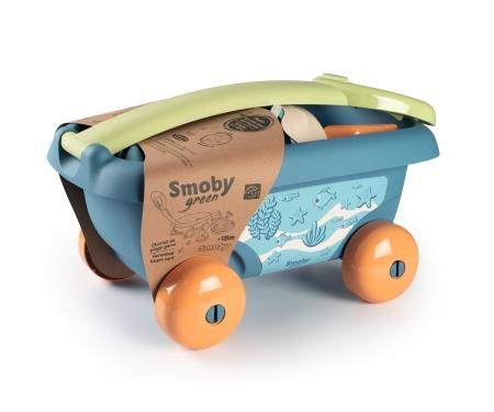 smoby Vozík s kyblíčkem a přísl., 100% recyklovatelný
