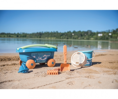 smoby SMOBY GREEN GARNISHED BEACH CART