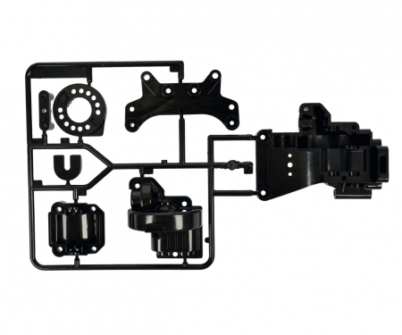 B-Parts Gearbox rear Black TA-01/TA-02