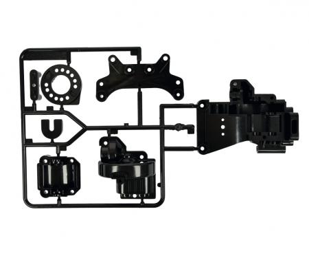 tamiya TA-01/TA-02 B-Parts Gearbox rear Black