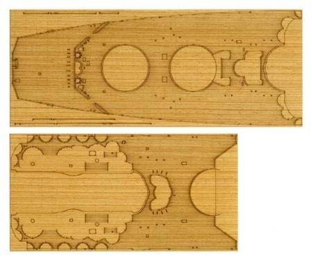 tamiya 1:350 Yamato Wooden-Deck Sheet