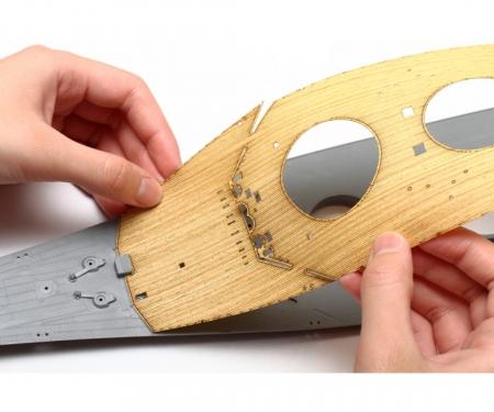 1:350 WWII Yamato Holz-Deck Dekor