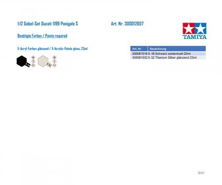 tamiya 1:12 Gabel-Set Ducati 1199 Panigale S