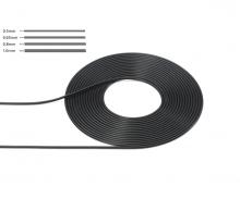 tamiya 1:6/1:12/1:24 Cable 0.5mm OD Bla 2m