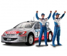 tamiya Peugeot 206 WRC Winner Version