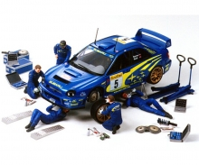 tamiya 1:24 Figure-Set Rally Mechanics (5) w/A.
