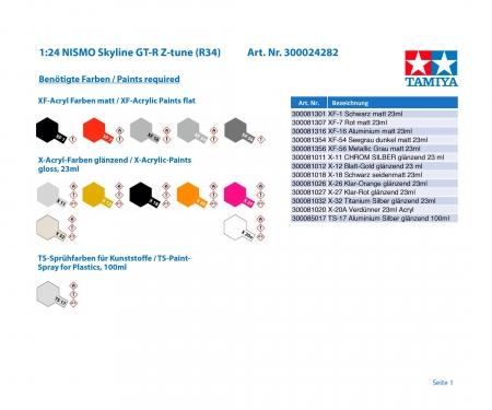 tamiya 1:24 NISMO Skyline GT-R Z-tune (R34)