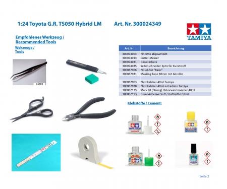 tamiya 1/24 TS050 HYBRID