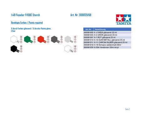 tamiya 1:48 Fieseler Fi156C Storch (Foreign AF)