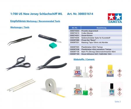 tamiya 1:700 US New Jersey Battleship WL