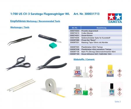 tamiya 1:700 US CV-3 Saratoga Aircraft Carr. WL