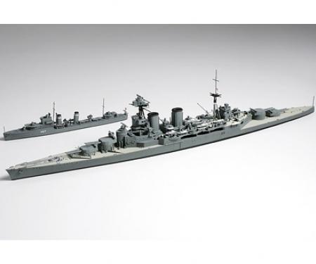 tamiya 1:700 Brit Hood & E Class Destroyer WL