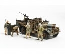 tamiya 1:35 Brit. LRDG Command Car w/ 7 Figures