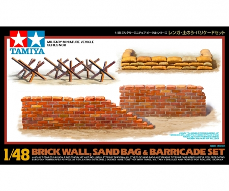 tamiya 1:48 WWII Diorama-Set Mauern&Sandsäcke