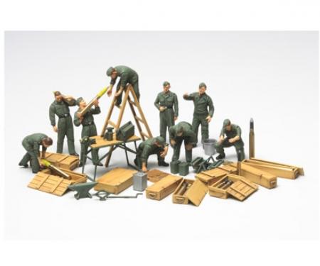 tamiya 1:48 WWII Diorama-Set Field Maintenace