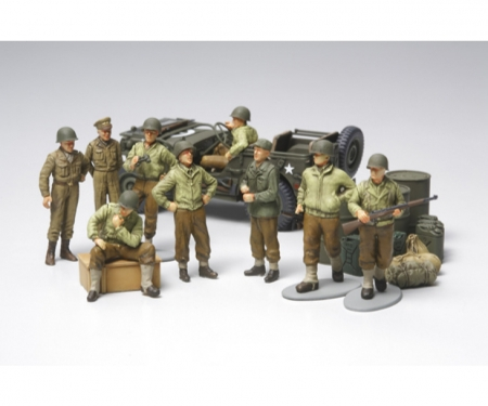 tamiya 1:48 WWII US Willys Jeep m.Fig.-Set (9)