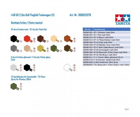 tamiya 1:48 US 2,5to 6x6 Flugfeld Tankwagen (2)